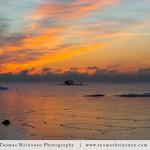 Pysähtyttävän kaunis talvinen aamu Lauttasaaressa